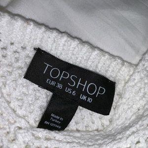 Topshop Tops - Topshop Crocheted Cropped Flower Appliqué Top